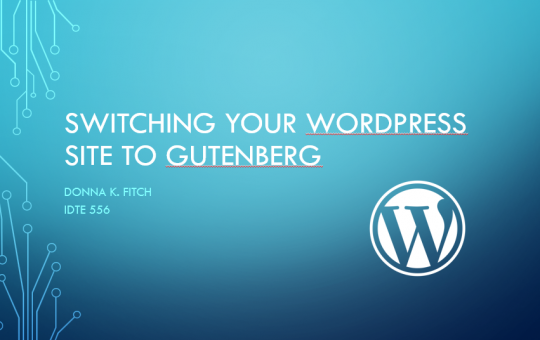 Gutenberg Screencasting Storyboard