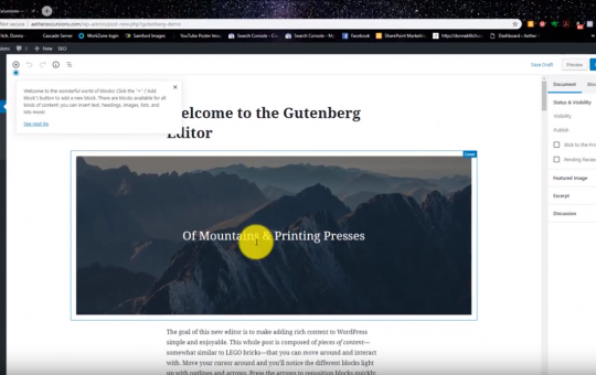 Screencasting: Switching Your WordPress Site to Gutenberg