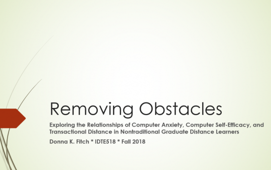 Removing Obstacles: PowerPoint Camtasia Presentation